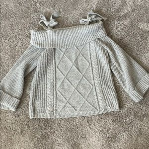 HWA Apparel tie shoulder sweater